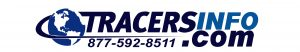 Tracers Logo with sales number - blue version